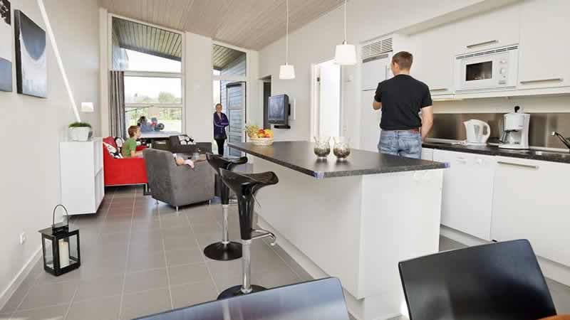 Interieur bungalow Lalandia Billund