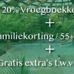 Korting Center Parcs: last minutes èn aanbiedingen + € 63 Gratis Extra's