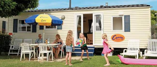 Stacaravan en campings Canvas Holidays