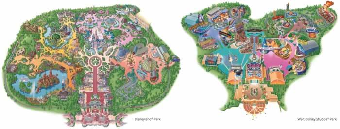 Plattegrond Disneyland Paris