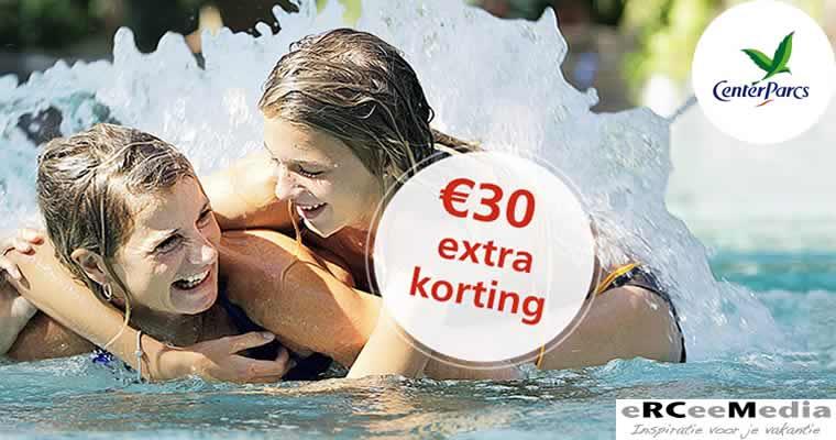 30 euro korting bovenop bestaande kortingen Center Parcs