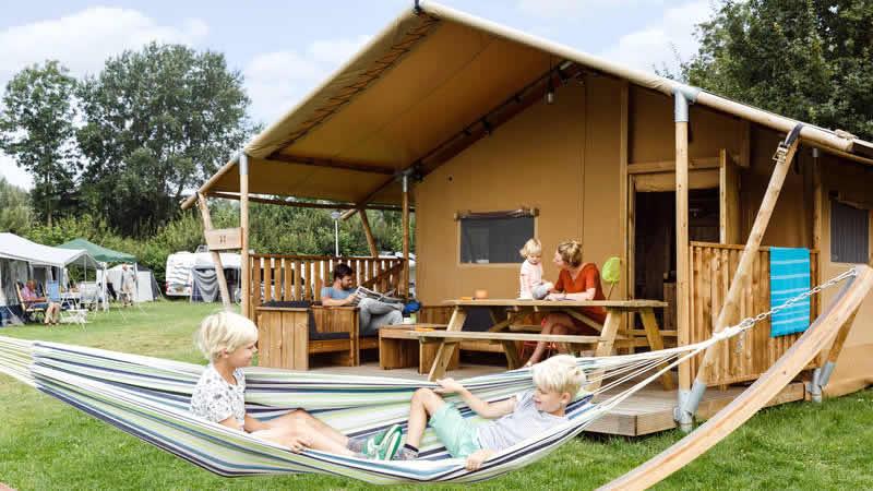 De camping van RCN Vakantiepark Zeewolde